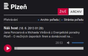 Vystoupení v Českém rozhlasu Plzeň