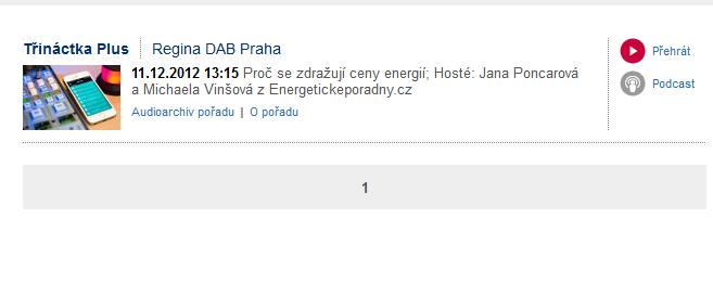 Vystoupení v Rádiu Regina Praha